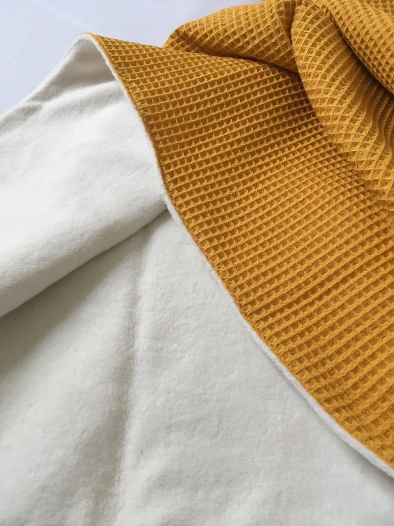 Car Blanket Fleece Bed Blanket Cradle Blanket Sherpa 100/% cotton /' Ocher /' Baby Blanket