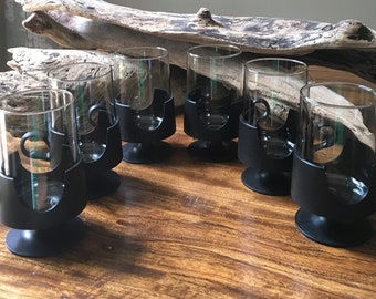 Mid Century Retro Mod Corning Glass Snap~ 6