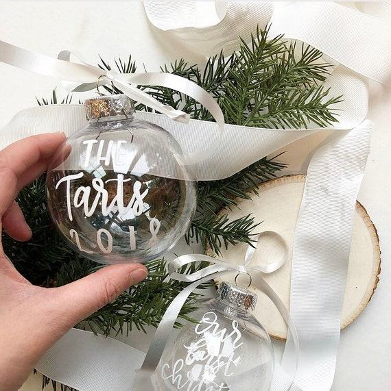Clear Christmas Ornaments.Custom Clear Christmas Ornaments Christmas Ornaments Family Name Year Christmas Ornament Custom Ornament Diy Ornament