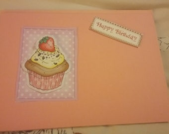 Strawberry cupcake birthday - pink