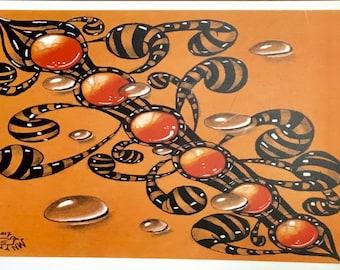 "Postcard ""Orange gems"""