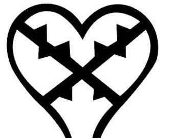 Heartless Logo Vinyl Sticker