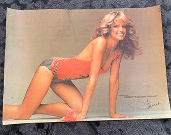 Farrah fawcett 1977 swimsuit metal pin