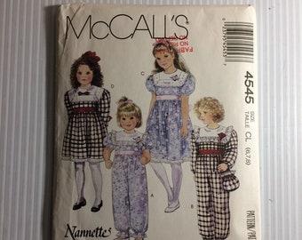 McCall 4545 Mädchen Overall elastische Beine Kleid mit | Etsy