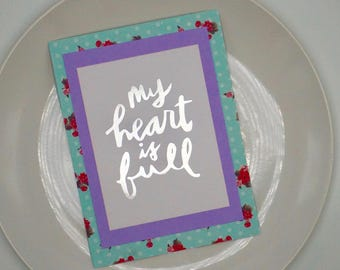 Love Card, Greeting Card, Card for Her, Card for Him