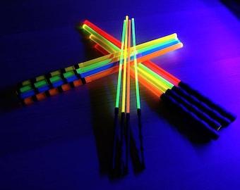 Fluorescent UV Black-light Reactive Half Cane and or Misery Stick