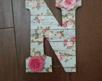 """9"""" Wood Letter Decor Girls Room"""