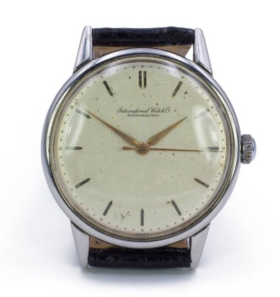 1950s IWC steel watch