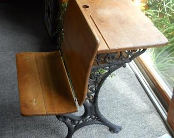 Superieur Superior Automatic Ornate Antique School Desk