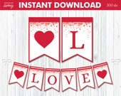 PRINTABLE Love Banner wit...