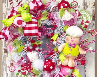 Gingerbread Candyland Christmas Wreath