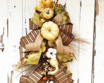 Rustic Farmhouse Style Fall Swag