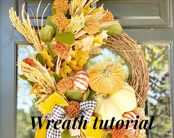 Fall Wreath DIY tutorial video