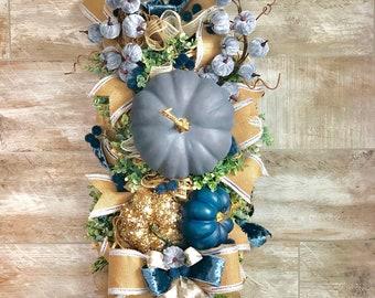 Fall Wreath, Wreath For Front Door, Pumpkin Wreath, Fall Door Hanger, Pumpkin Door Hanger, Thanksgiving Decor, Fall Decor, Housewarming gift