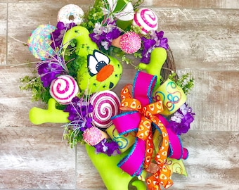 Halloween Wreath, Halloween Candy Wreath, Halloween Door Decor, Halloween Ghost, Halloween kids party, Halloween home decor, Fall Wreath