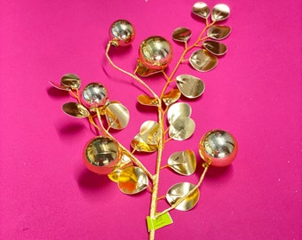 Gold Ornament & Eucalyptus Spray