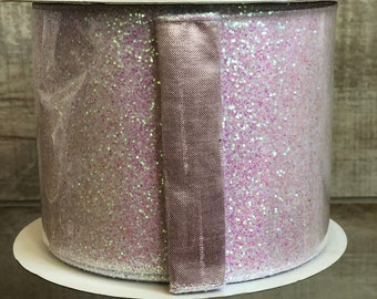 "4"" Iridescent Glitter ~ 5 yards"