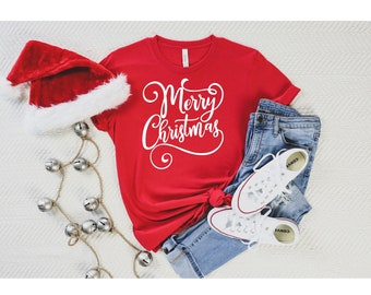 Merry Christmas T-shirt; Holiday Gift; Unisex Jersey Short Sleeve Tee