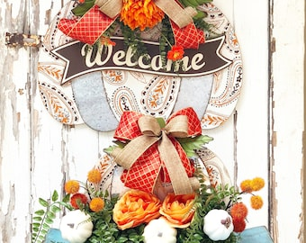 Fall Doorhanger & Centerpiece Duo