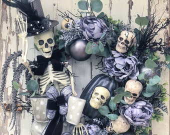 Gothic Glam Mr Bones Wreath