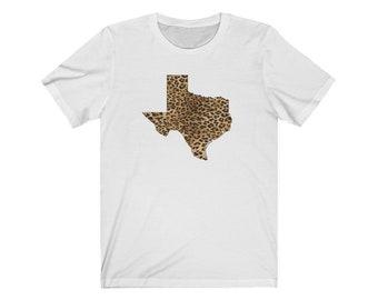Texas Leopard T-shirt - Unisex Jersey Short Sleeve Tee