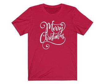 Merry Christmas T-shirt; Holiday Gift; Unisex Jersey Short Sleeve Tee