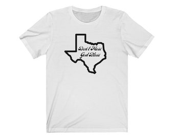 Don't Mess God Bess T-shirt; Unisex Jersey Short Sleeve Tee