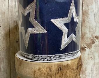 "4"" Navy Large Star Ribbon ~ 5 yards"