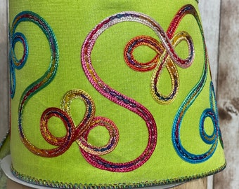 4in ~ Lime Green Candy Loop ~ 10 yards ~ Wired