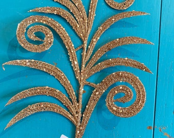 Sand Gold Spiral Fern Spray