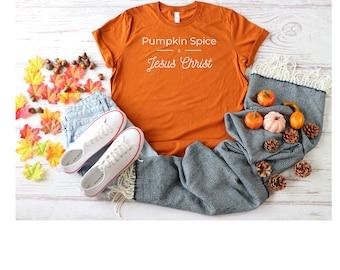 Pumpkin Spice Shirt, Unisex T-Shirt, Pumpkin Spice Gift, Fall Birthday Gift, Hostess Present, Religious Present, Thanksgiving Shirt