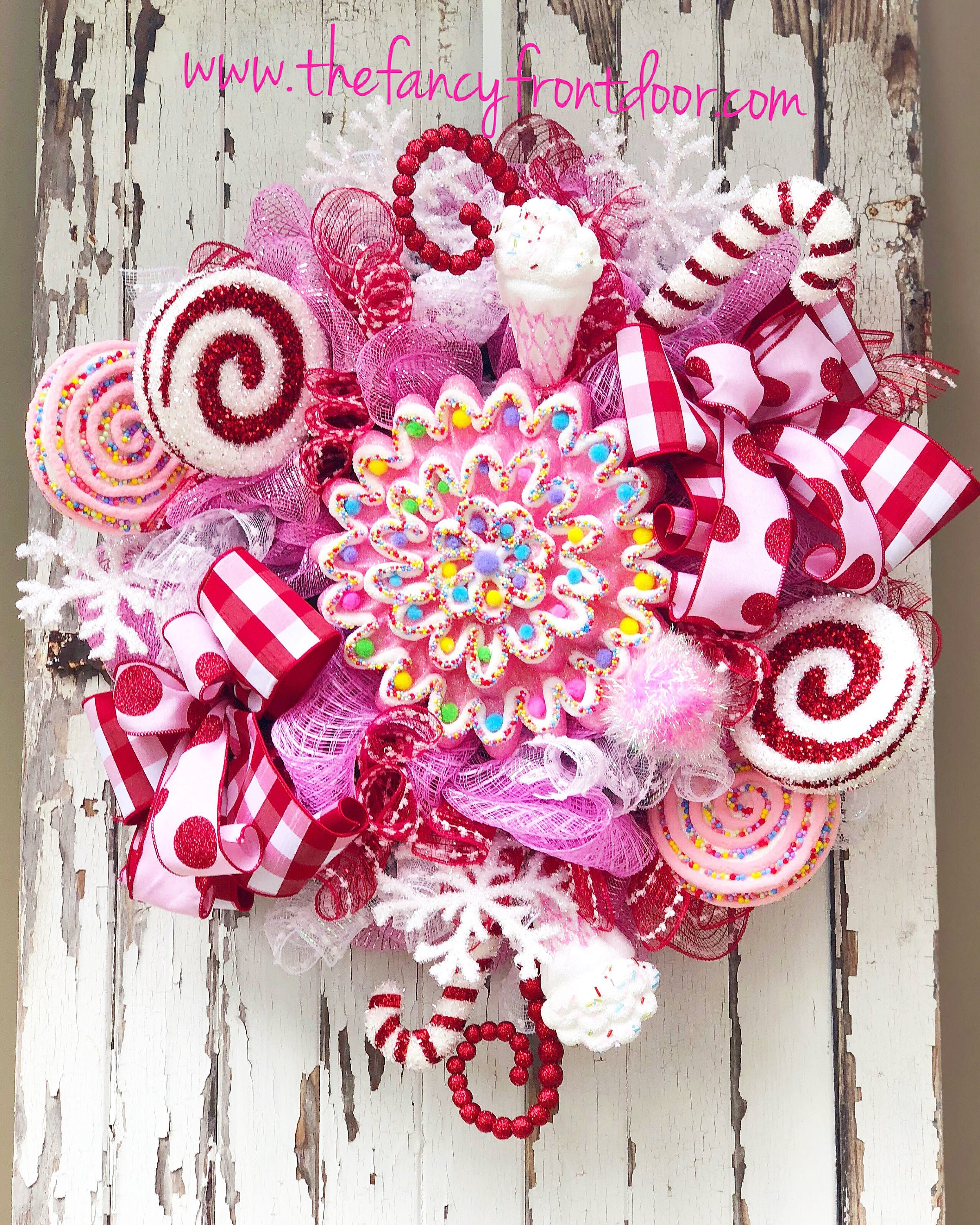 extra large candyland christmas wreath - Candyland Christmas Door Decorations