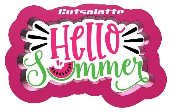 Hello Summer Cookie Cutter 3D Printed