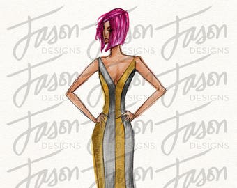 Fashion Illustration Art Print Design 10