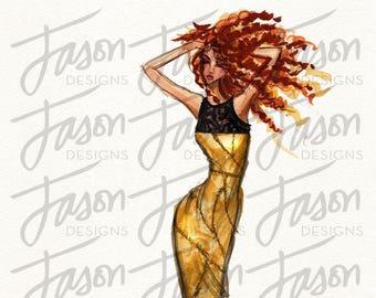 Fashion Illustration Art Print Design 9