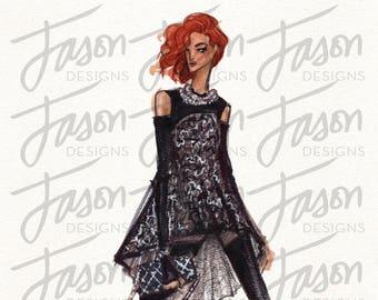 Fashion Illustration Art Print Design 6