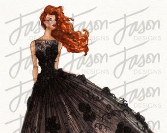 Fashion Illustration Art Print Design 3