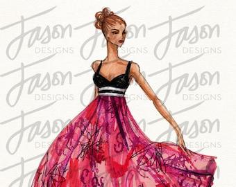 Fashion Illustration Art Print Design 5