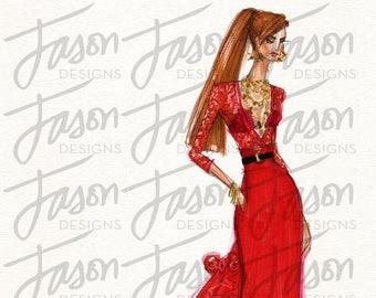 Fashion Illustration Art Print Design 14