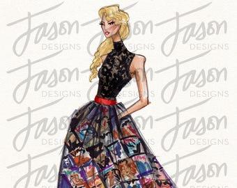 Fashion Illustration Art Print Design 11