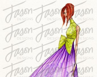Fashion Illustration Art Print Design 2