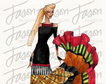 Fashion Illustration Art Print Design 1