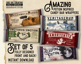 photo regarding Dementor Chocolate Wrapper Printable identify Harry potter wrapper Etsy