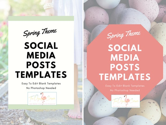 Social Media Posts Templates Spring Edition Blog Post Etsy