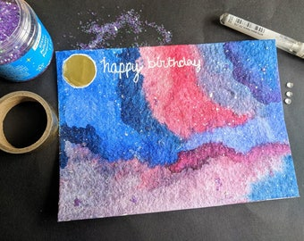 Galaxy Themed Eco-Friendly Cards