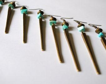 Amazonite Brass Spike
