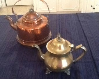 Copper and nickel coffee pots from Sweden!