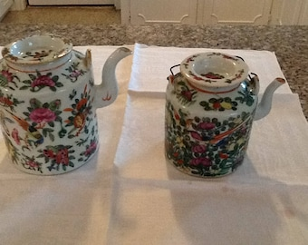 Antique Chinese china! Tea pots! 1800's