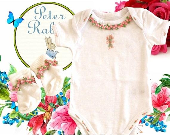 996fbd8061e6 Baby Girl Onesie Baby Girl Romper Baby Organic Cotton Baby