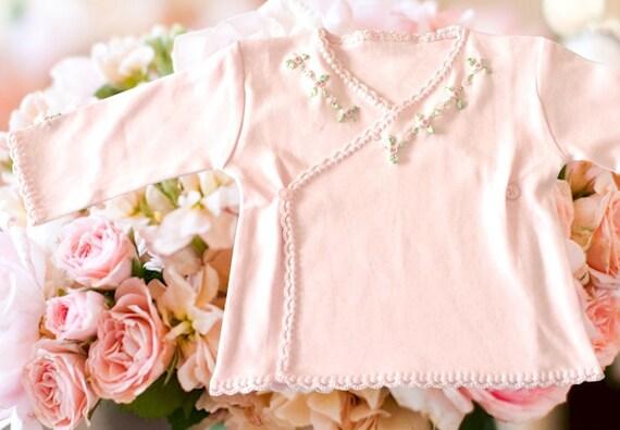 Victorian Organics White Cotton Lace Baby Girl Bonnet Heirloom Hat Shower Gift